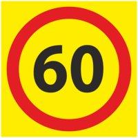 Табличка 60 ограничение скорости для автобусов и автоколонн при перевозке людей. Спецзнаки для ТС
