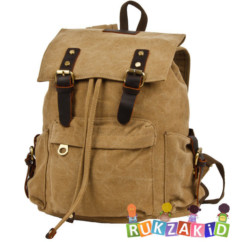 Рюкзак с клапаном Polar П3062 Бежевый