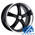 Диски TSW Jarama 8x18 5/112 ET32 d72 Gloss Black Mirror Lip - фото 1