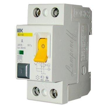 Выключатель автомат. диф. 16A/30mA 2П АС ВД 1-63 ИЭК