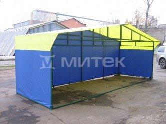 """Палатка торговая """"Домик"""" 6х2 (каркас из квадратной трубы 20х20 мм)"""