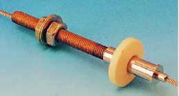 4000-12 Опора-натяжитель верхняя, фиксация троса цангой, хром