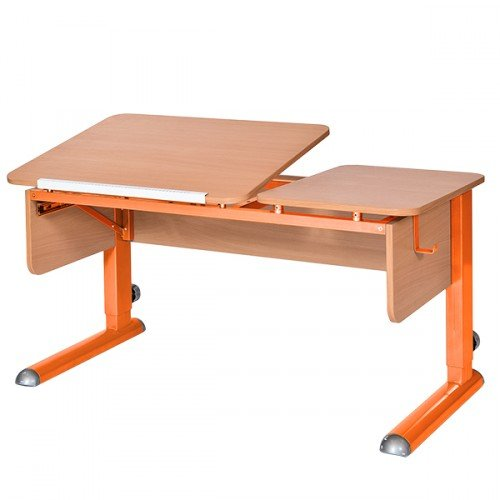 Растущая парта Астек Твин-2 бук/оранжевый