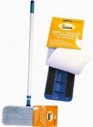 Инвентарь для уборки Рыжий кот mopm1 швабра для пола с насадкой из микрофибры р-р рамки: 10х30см насадки: 12х32