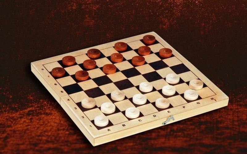 Настольная игра Шашки деревянные