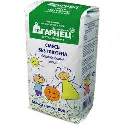 Смесь без глютена «Зернобобовый хлеб» Гарнец, 600 гр