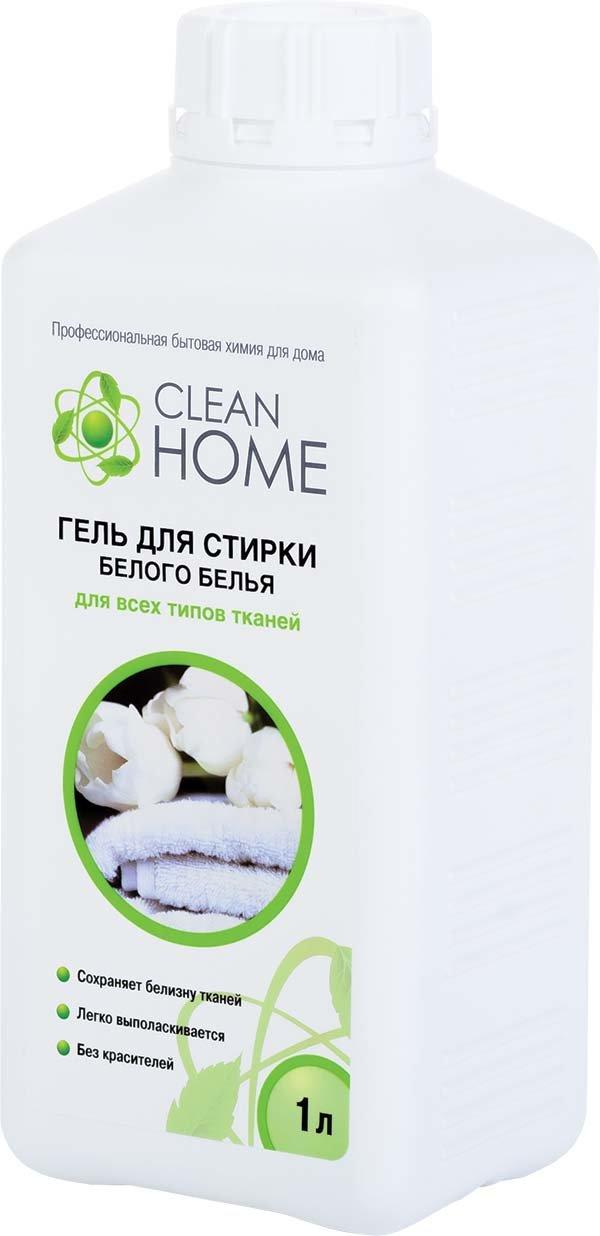 Средства для стирки и от накипи Clean home Cleanhome гель д/стирки белого белья 1000мл 392