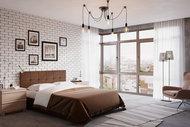 Кровать Fabiano (200x140, бордовый, розовый, Elva Plum)