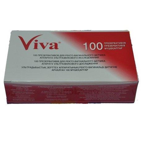 Презерватив VIVA для УЗИ 100 штук в упаковке