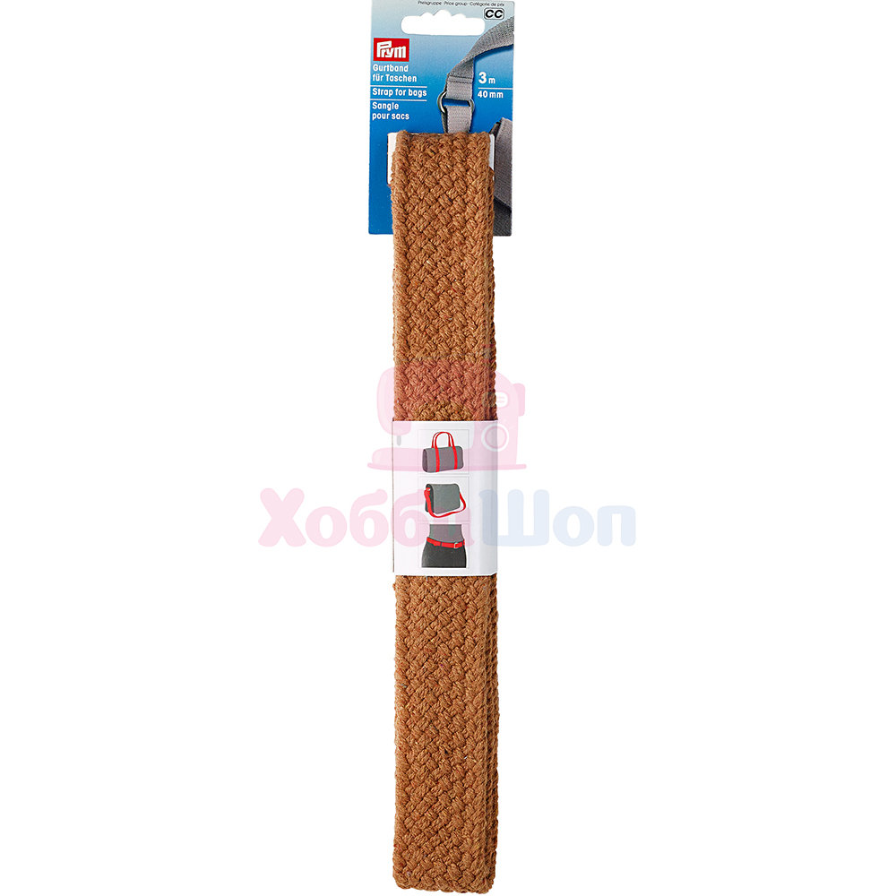 Лента-ремень для сумок 40 мм 3 м коричневый Prym 965207