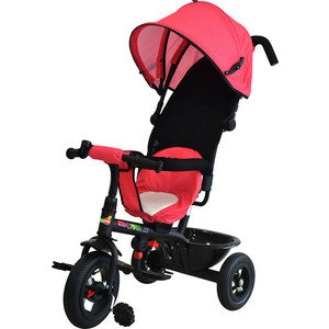 Велосипед трицикл BabyHit Kids Tour XT - розовый под лён