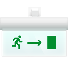 Светильник аварийный Молния ULTRA РИП Направление к выходу направо (220В) с аккумулятором
