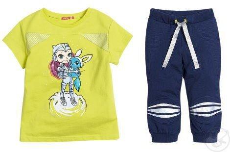 Спортивный костюм футболка/брюки Pelican ', цвет: Желтый
