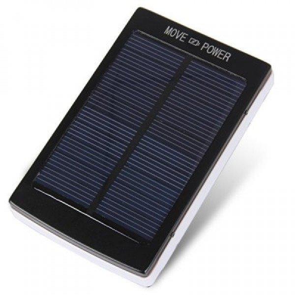 Powerbank со встроенной солнечной батареей Solar Power Bank, панель из 20 светодиодов, объем 12000 mAh