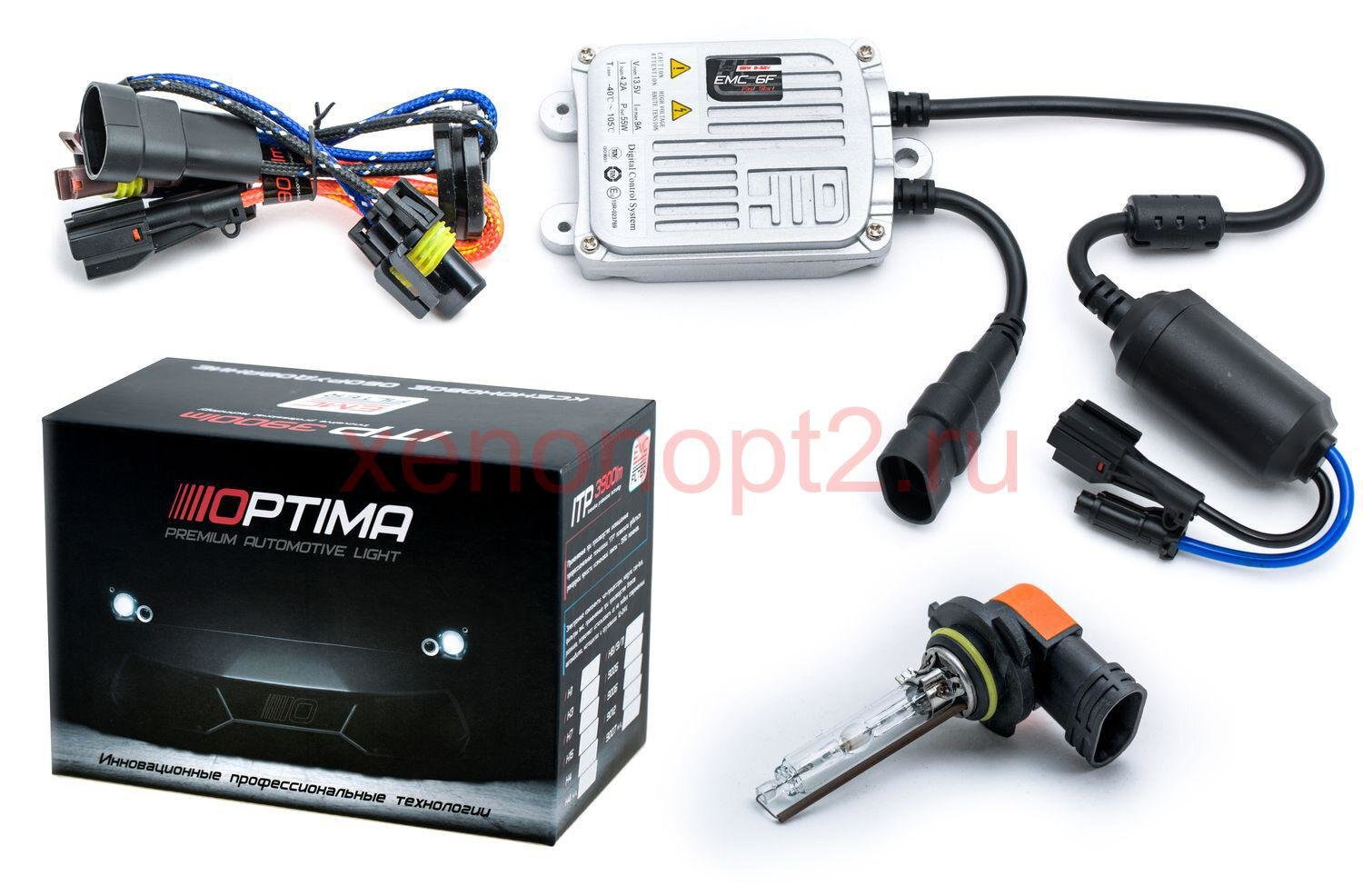 Ксенон Optima Premium EMC-6F Fast Start slim 55w 9-32v (быстрый старт)