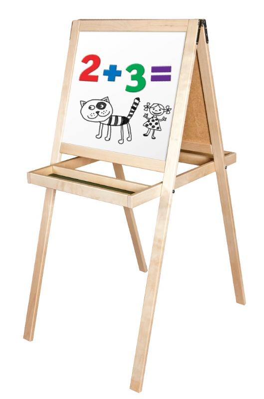 Доска мольберт двухсторонняя комбинированная напольная магнитно-маркерная №15