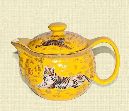 """Заварочный чайник с ситом серии фарфора """"Тигр Императора"""" 300 мл"""