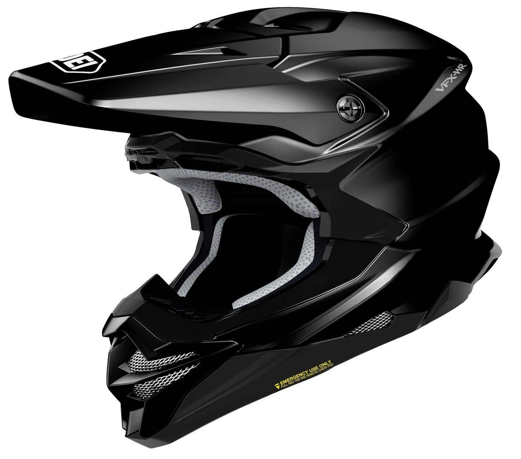 Shoei VFX-WR Plain шлем кроссовый, черный / M