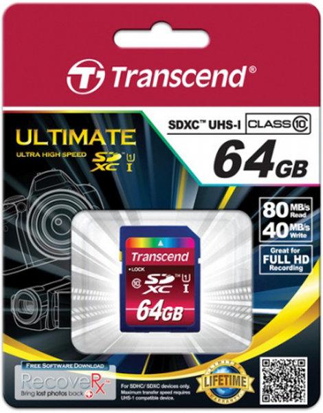 Карта памяти Transcend TS64GSDXC10U1