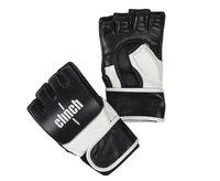 Перчатки для смешанных единоборств Clinch Combat черно-белые (размер S/M)