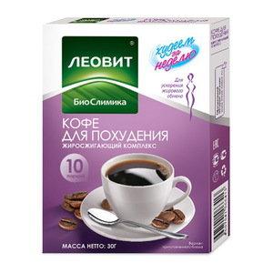 Леовит кофе для похудения саше 3 г 10 шт