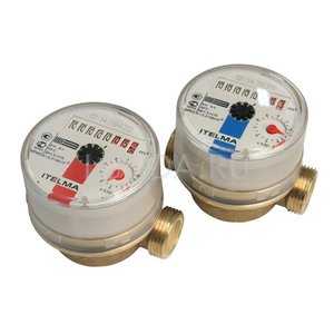 Счетчик 1/2 горячей воды Itelma (без соединений)(110мм)