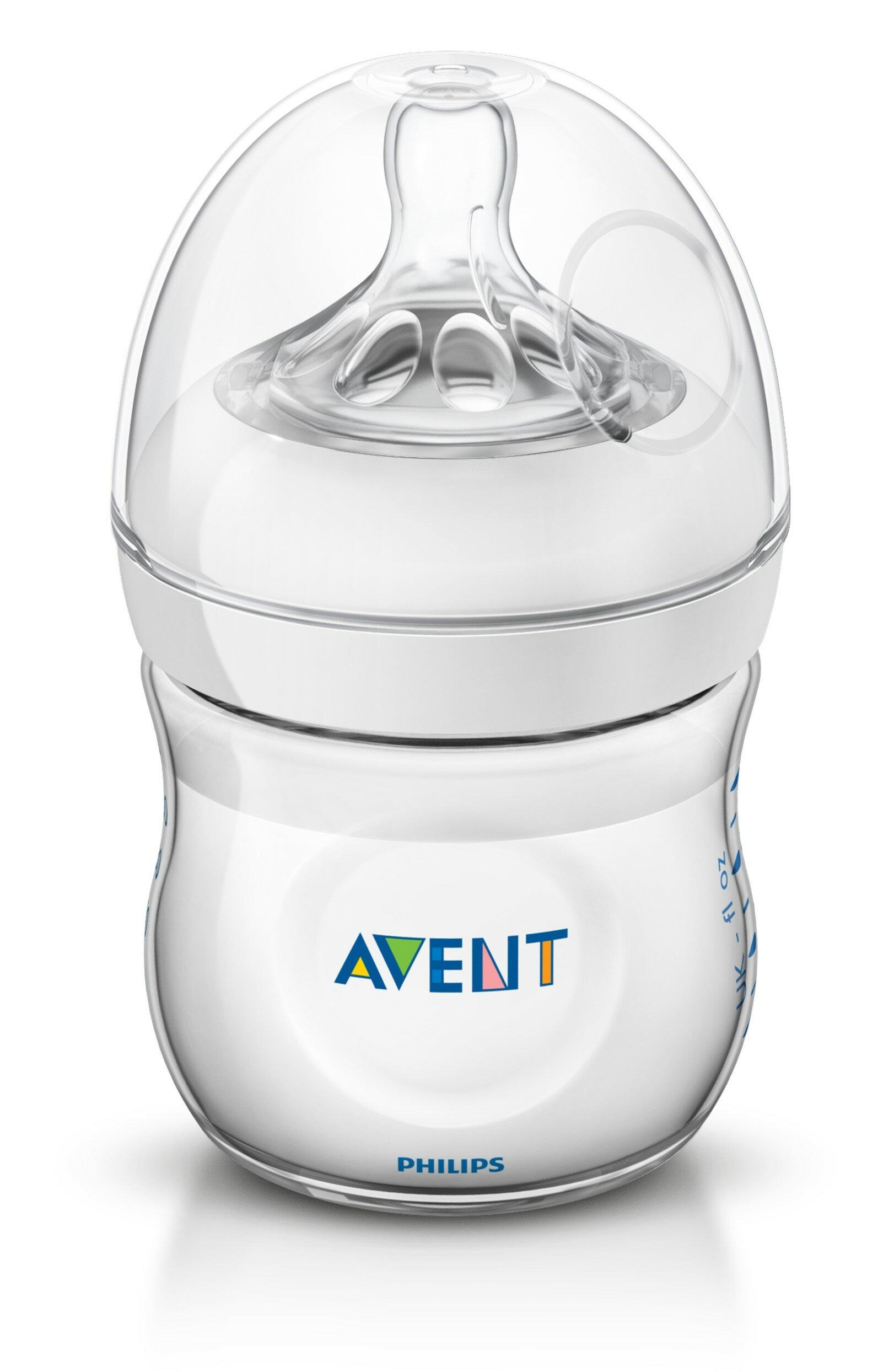 Philips AVENT Бутылочка полипропиленовая Natural SCF690/17, 125 мл с рождения