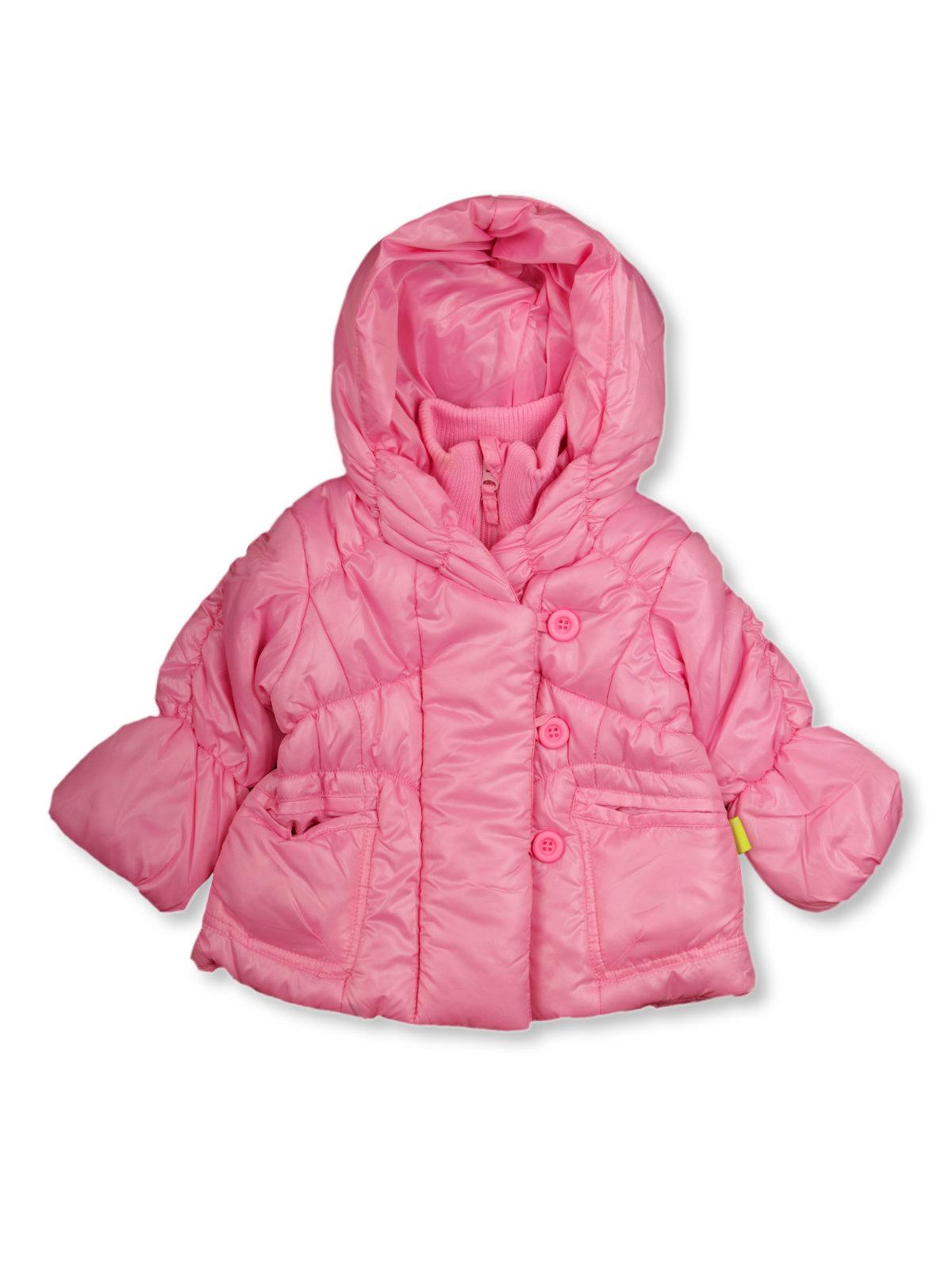SAM Курточка розоваяс капюшоном для девочки, SAM, (6, 9, 15 мес.)