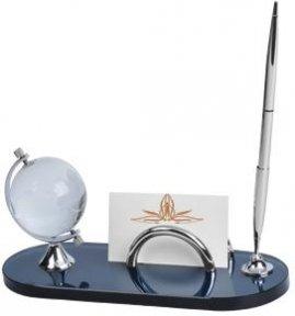 Oasis Набор настольный: подставка для визиток, глобус и авторучка