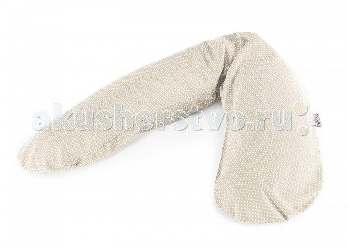 Theraline Подушка для кормления 190 см Горошек Бежевая
