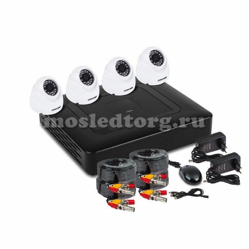 Комплект видеонаблюдения на 4 внутренние камеры AHD-M (без HDD) ProConnect 45-0403