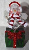 Новогодний сувенир «Снеговик меломан» ORIENT NY6003 SNOWMAN, питание USB