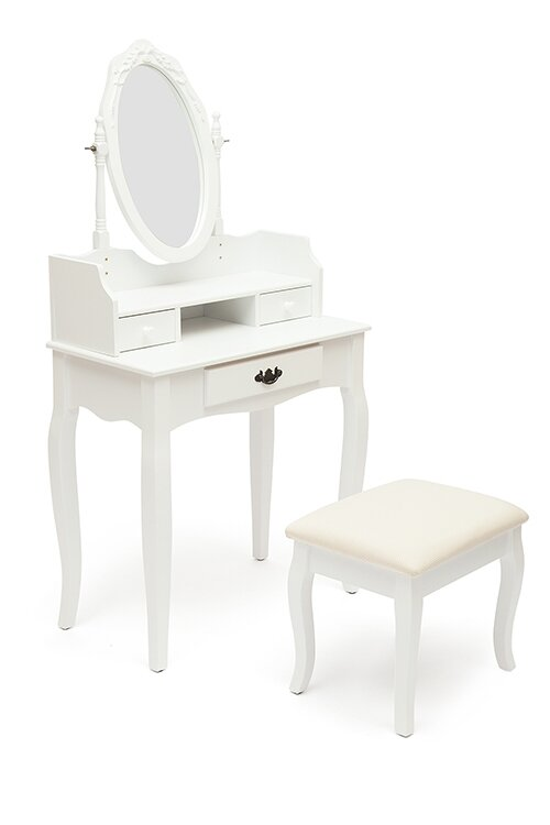 Туалетный столик с пуфом Tetchair NY-V3024 Белый (White)