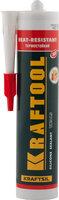 Герметик силиконовый KRAFTOOL красный, температуростойкий (от -62 С до 275 С), 300мл, ( 41259 )