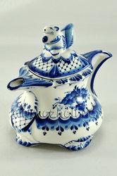 """Чайник """"Белочка"""". Гжельский фарфор. арт. 1892"""