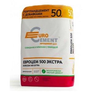 Цемент Eurocement Экстра М500 Д20, 50 кг