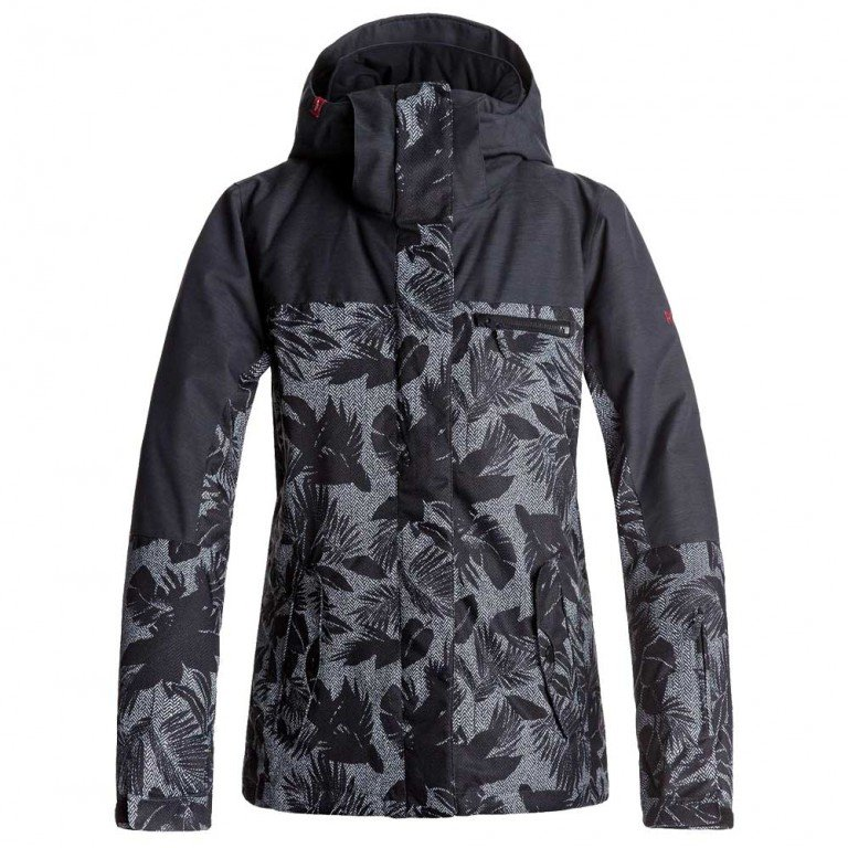 Сноубордическая Куртка ROXY JETTY BLOCK, True Black / Floral Herringbone