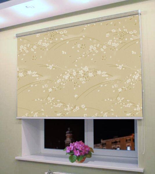 Рулонная штора Мастер Плюс Рулонные шторы на большие окна Сакура