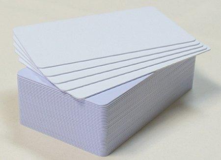 Пластиковые карты белые матовые арт. RUSS-WА076MLММ, 1 уп. (500шт.)