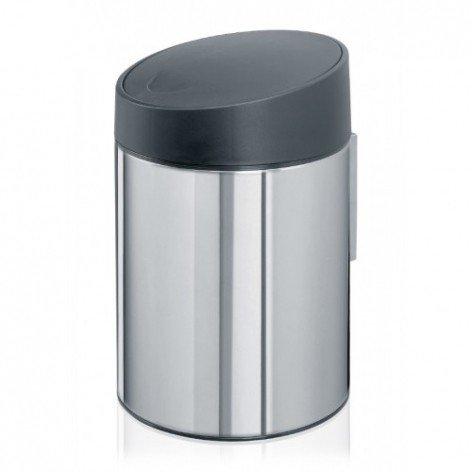 """Ведро для мусора Brabantia """"Slide Bin"""" (полированная сталь), 5 л"""
