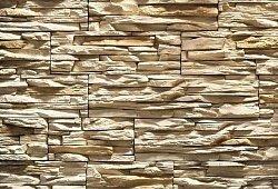 Декоративный искусственный камень РокСтоун Слоистый кварц 101п, Светло-бежевый