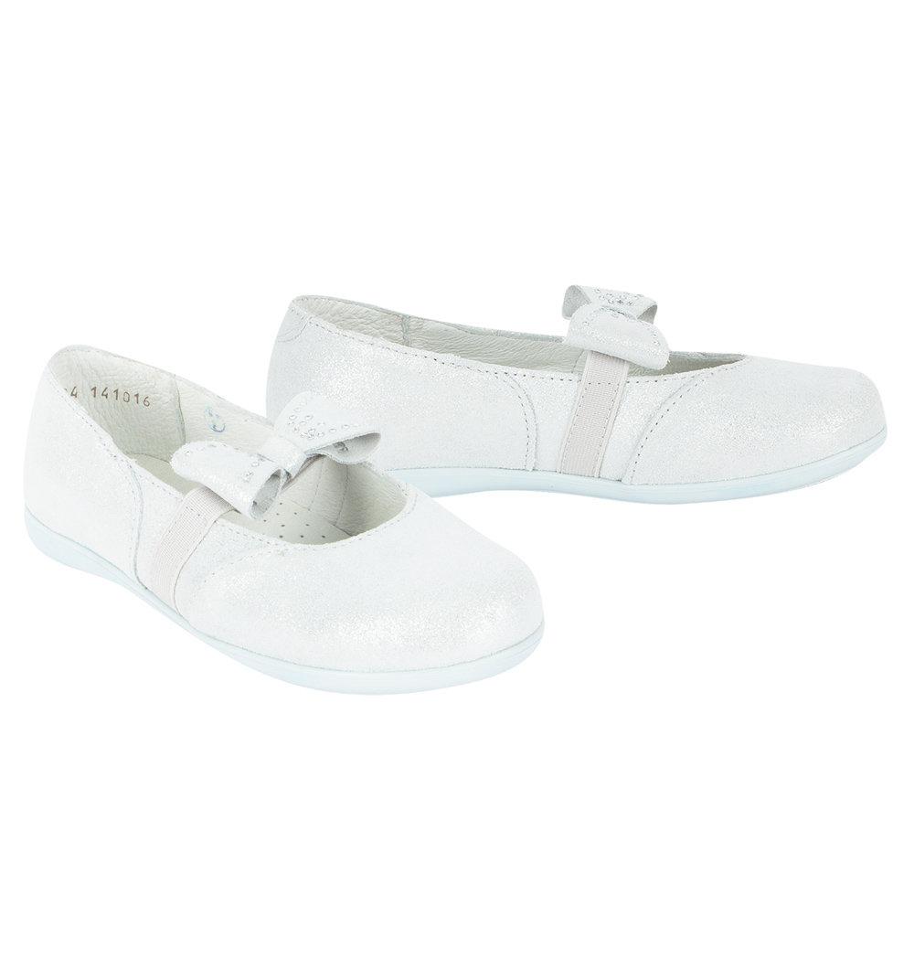 Туфли Котофей цвет: серебряный, для девочек, размер 28