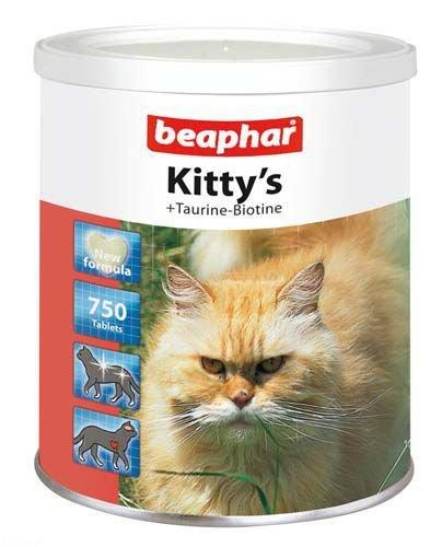 """Витамины для кошек Beaphar Kitty""""s сердечки с таурином и биотином 750 таб"""
