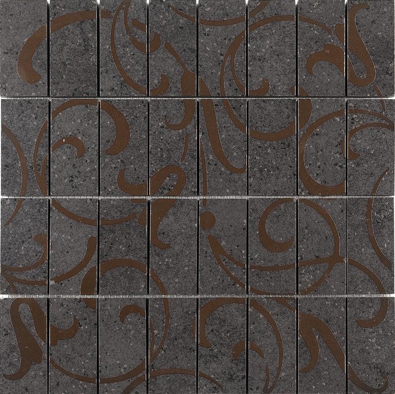 DP168/015 Фьорд черный декор мозаичный(гранит) керамический