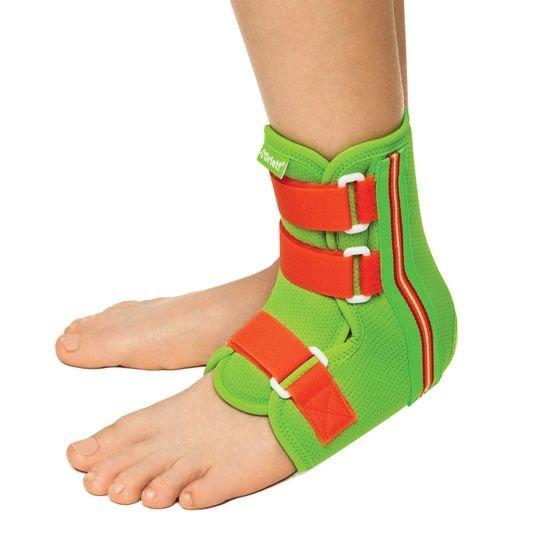 Ортез голеностопного сустава с ребрами жесткости и шнуровкой детский вальгусная деформацыя коленного сустава