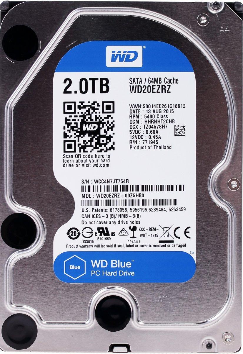 Жесткий диск 3.5 Western Digital Blue WD20EZRZ