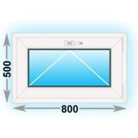 Готовое пластиковое окно Novotex одностворчатое 800x500 (ШxВ)