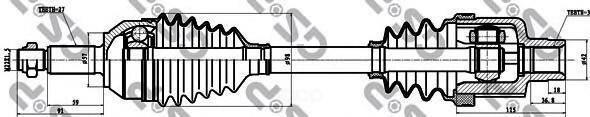 Привод В Сборе Ford Mondeo I-Ii 1.6-2.0 93-00 Прав. -Abs GSP арт. 218005