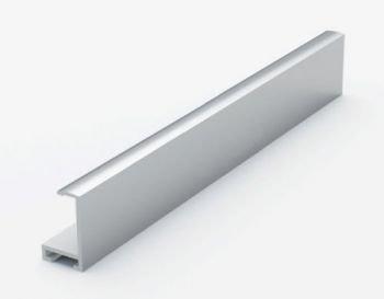 Анодированный алюминиевый профиль. Матовое серебро 3.05 м. №1 Nielsen 201004