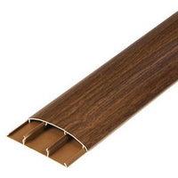 Наличник 70х12х2200мм полукруглый пластиковый (ПВХ) с кабель-каналом Нк70 Ideal (Идеал). 12 цветов